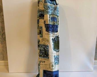 SALE !!!vintage 1950's barkcloth fabric yoga mat bag