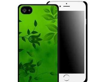 ON SALE NOW Green Leafy Design Printed Cell Phone Case / iphone 5/5s / iphone 6/6s and 6+ / Teen / Tween / Gift Idea