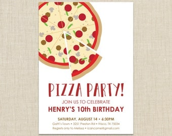 Pizza Party Invitation, School Pizza Party, Office Pizza Party