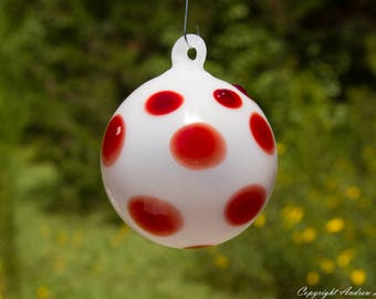 OOAK Hand blown Borosilicate Glass Christmas ornament O2