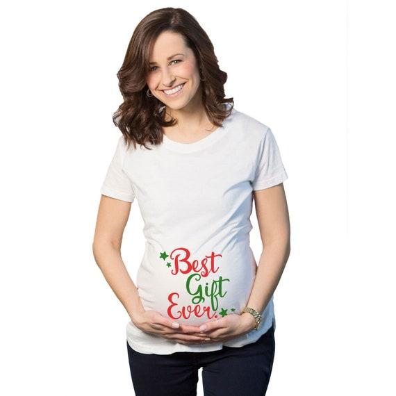 Christmas Maternity Shirt, Expecting At Christmas, Xmas Pregnancy ...