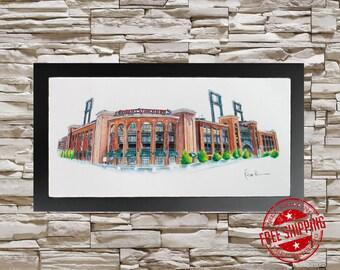 Busch Stadium Wall Art  st louis Cardinals wall art cardinals fan gift