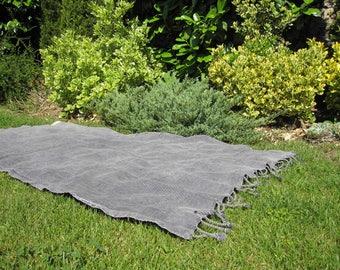 Beach towel - stonewashed solid GRAY mens Peshtemal Turkey Turkish beach towel pareo 100% Cotton soft Hammam Yoga Spa shawl scarf  bed throw