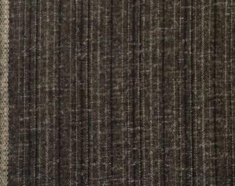Wool Fabric / Striped Wool Fabric / Brown Wool Fabric / Brown Stripe Wool Fabric / Brown Striped Wool Fabric
