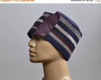 ON SALE Women's Hat - Repurposed Wool Hat - Blanket Hat - Winter Hats - Warm Hats