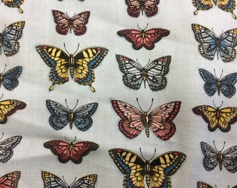 Fabric - Makower - Vintage Journal - Butterflies