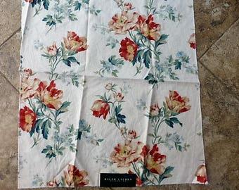 Ralph Lauren Floral Fabric Sample #4