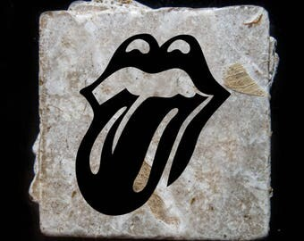 Rolling Stones coaster set. **Ask for free gift wrapping and have them sent directly to the recipient!**