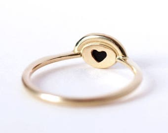 ON SALE Onyx Engagement Ring, Alternative Engagement Ring, Onyx Ring Gold, Diamond Onyx Ring, Gold Promise Ring, Black Stone Ring, Hidden He