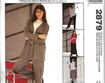 ON SALE McCall's 2879 Sewing With Nancy Misses/ Miss Petite Jacket, Top, Pull-On Pants And Skirt Pattern, Size 8-22, UNCUT