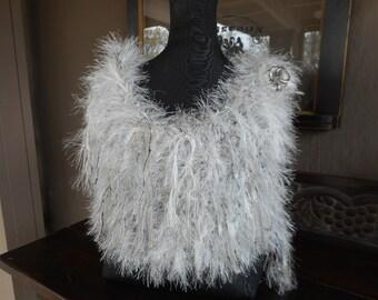Hand Knit Shawl Hand Knit Wrap, Hand Knit Cowl