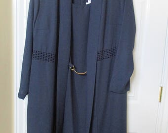 POSITIVE INFLUENCE 2pc dress, plus size 18W navy Blue dress, jacket, Work, Church, Special Occasions dress for success