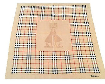 3 Days Clearance Sale - Burberrys Large Haymarket Check Silk Scarf Wrap with  Rolled Edges