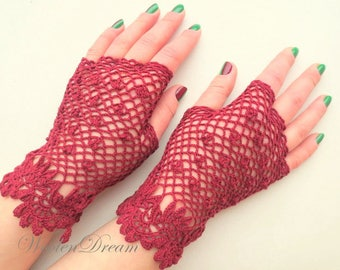 Bridal fingerless irish lace gloves,crochet jewelry,victorian style bridesmaid accessory,romantic summer wedding,bohemian chic,evening dress
