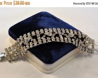 ON SALE Vintage High End Large Rhinestone Bracelet 50's - Exquiste