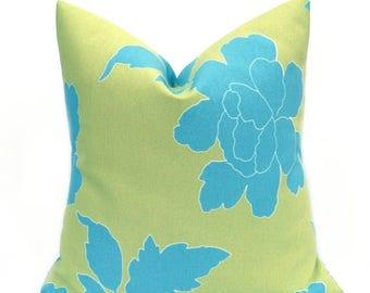15% Off Sale Outdoor Pillows, Outdoor Pillow Cover, Euro Pillow, Outdoor Euro Pillow, Blue Pillow, Green Pillow, Outdoor Decor, Patio Decor,
