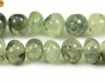 15 inch strand of Prehnite freeform chip irregular nugget beads 8-12 mm