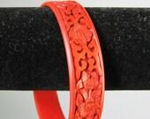 Red Bangle Bracelet / Vtg...
