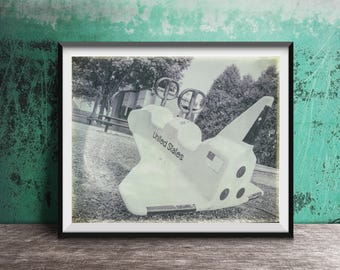 Space Shuttle - Vintage Playground Equipment - Astronaut - Photography Print photo