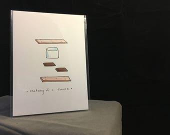 Anatomy of a S'More: Original 5 x 7