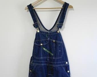 Vintage Key Imperial Overalls, Bib Overalls, Classic Blue Wash, Denim Overalls, Coveralls, Carpenter Jeans, W36 x L32