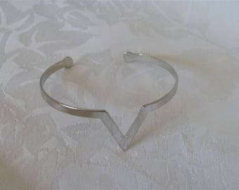 Bracelet silver, geometric shape, adaptable to all wrists