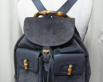 Gucci backpack with bamboo handle vtg