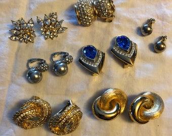Vintage Clip On Earrings 7 Pairs!!!