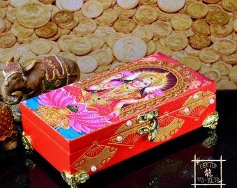 "Сash box ""Lakshmi Goddess"", Magic box, Handmade Wooden money box, Feng Shui Money Box, Feng Shui gifts, To multiply your income and wealth"