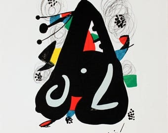 Joan Miro-Untitled from La Melodie Acide XIII-1980 Lithograph