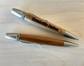 Quartersawn White Oak and Burnished Chrome Stonekettle Station Pens