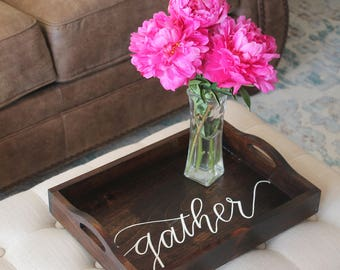 Wooden Gather Tray