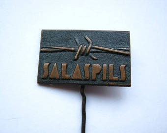 USSR  Soviet union commemorative memorable ww2 pin badge Salaspils