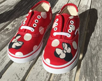 Minnie Mouse Vans with Matching Shirt