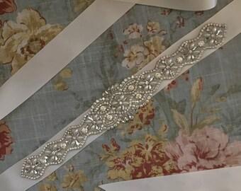 BEST SELLER-Wedding-Accessories-Wedding Sash-Wedding Belt-Bridal Belt-Bridal Sash-Bridesmaid Sash-Applique-Rhinestones-Crystal Sash-Belt