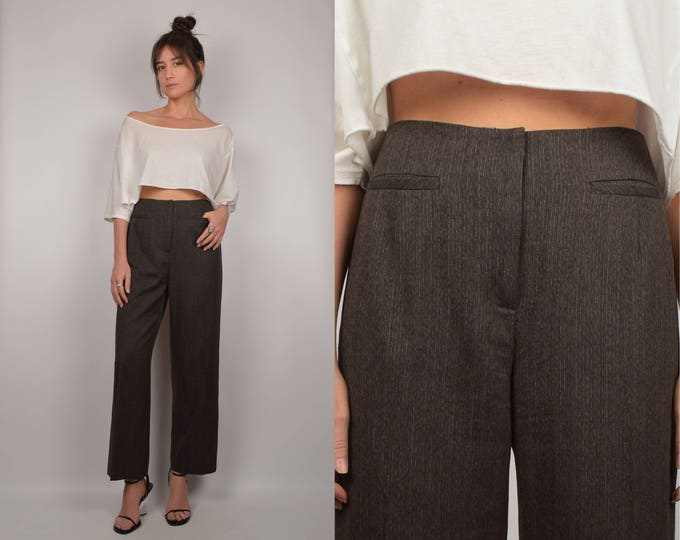 Vintage High Waist Cropped Pant