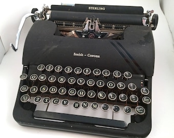 Smith Corona Sterling Manual Typewriter - Display