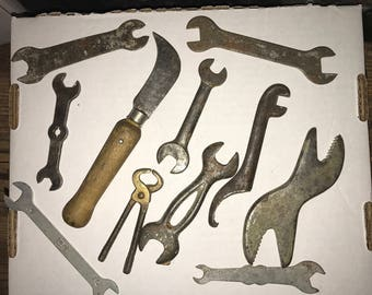 Lot of Antique Tools Mostly Wrenches