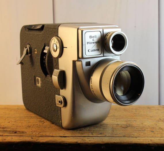 vintage bell howell cannon motor zoom 8 eee camera super 8 camera retro camera collectible. Black Bedroom Furniture Sets. Home Design Ideas