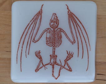 Bat skeleton coaster