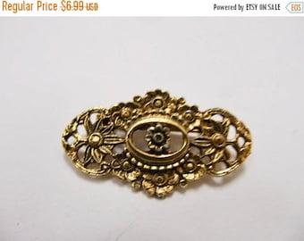 ON SALE Vintage Ornate Floral Pin item K # 978