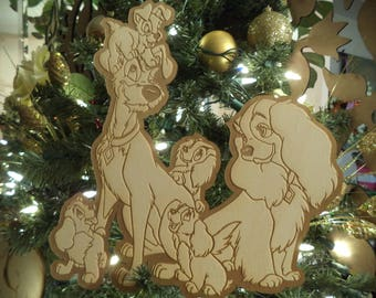 Lady & the Tramp / Large format tree Ornaments