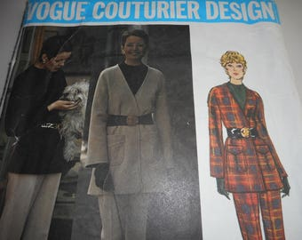 Vintage 1970's Vogue 2594 Couturier Design Galitzine Three-Piece Pant Suit Sewing Pattern Size 10 Bust 32.5