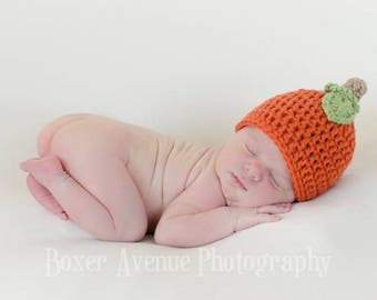 Baby Pumpkin Hat, Toddler Pumpkin Hat