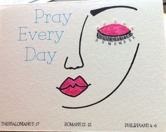 JW Card, Encouragement Card, Greeting Card, Pray Every Day,Christian Greeting Card