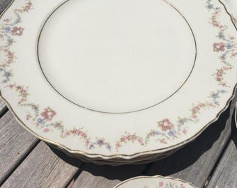 """HARMONY HOUSE """"FONTAINE"""" Pattern Set of Fine Bone China    28 pieces  Made in the U.S.A."""