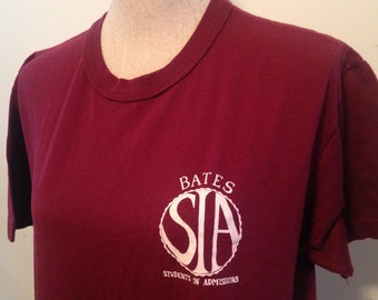 Vintage Bates College Students in Admissions 90s Tshirt