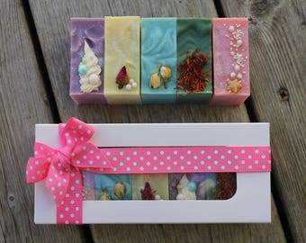PRINCESS SOAP SET | 5 Soap Bars | Gift Set of Soaps | Cold Process Soap | Disney Inspired | Bath and Body