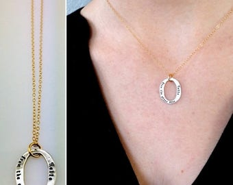 SALE Hello From The Other Side • Lyric Jewelry • Mixed Metal Necklace • Hello • Adele • Long Distance Friendship • Song Jewelry •