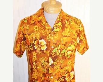 chemise vert hibiscus | etsy